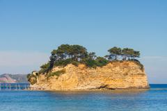 Agios sostis, small island in greece, zakynthos Stock Photos