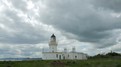 Lighthouse at chanonry point, fortrose, inverness, scotland Stock Footage