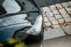 Tesla model s headlight Stock Photos