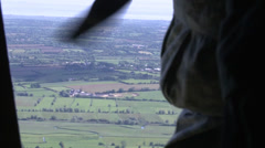 D-Day 70th Anniversary Airdrop Stock Footage