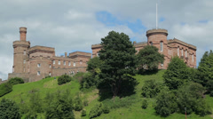 Inverness castle on banks of river ness, scotland Stock Footage