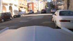 USA San Francisco driving in the streets with a 1969 Cadillac Calais 2 Stock Footage
