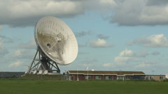 radio telescope station intelligence - stock footage