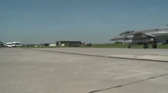 F-16 fighting falcon Polish Pilots Taking Off Stock Footage