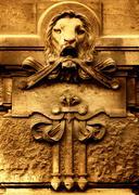 ancient architechture detail - stock photo