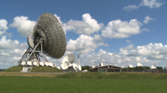Radio telescopes and cloudscapes time lapse Stock Footage