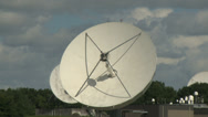 Stock Video Footage of radio telescopes zoom in, zoom out