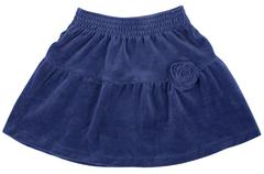 Child or woman's blue skirt. Isolated on white Stock Photos