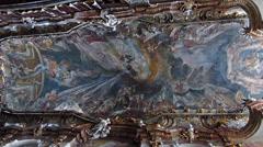 Beautiful Baroque architecture Asam Church in Munich Stock Footage