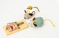 Wooden mouse trap Stock Photos