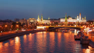 Stock Video Footage of Moscow Kremlin  in the evening, timelapse