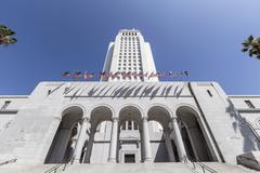 Los angeles city hall Stock Photos