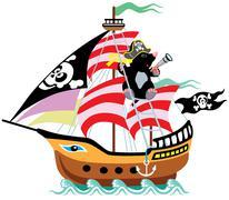 Cartoon mole pirate Piirros