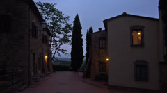 POV. Italy, Tuscany, walking on territory of agriturismo hotel farmstead.  Stock Footage
