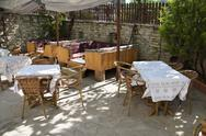 Stock Photo of patio terrace of konak country house