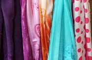 Stock Photo of brightly colored scarfs and veils