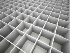 Abstract cubes network black and white Stock Illustration