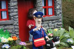 Postman pat - images within the village Stock Photos