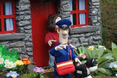 postman pat - images within the village - stock photo
