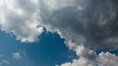 Raindrop ripples on a reflected sky. - stock footage