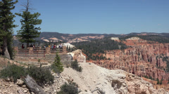 Tourism overlook Bryce Canyon National Park Utah HD 153 Stock Footage