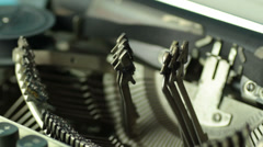 Typewriter close-up Stock Footage