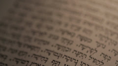 Hebrew Jewish Bible Old Testament Ancient Text - stock footage