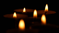 Candles Dying Out - stock footage