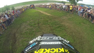 Stock Video Footage of Freestyle Motorcycle Jump POV Slow-Motion FMX