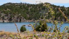 Mountainside Crisp Lake Reveal Stock Footage