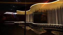 Karaoke nightclub gold light Stock Illustration