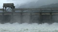 Bonneville Dam, Columbia River, Dam, 4K Stock Footage