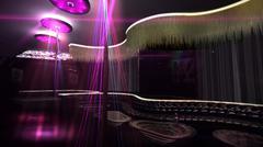 karaoke nightclub spotlight - stock illustration