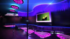 karaoke nightclub - stock illustration