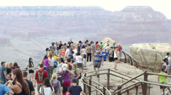 Grand Canyon Tourists Timelapse Stock Footage