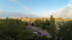 Clouds over the city. diurnal motion, Makeevka, Ukraine. Full HD.  Stock Footage