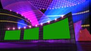 Stock Illustration of entertainment news virtual set purple