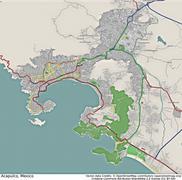 Acapulco Mexico aerial view - stock illustration