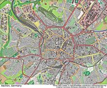 Aachen Germany aerial view Stock Illustration