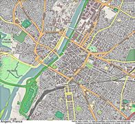 Angers France aerial view - stock illustration