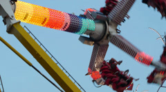 Claw Thrill Ride Stock Footage