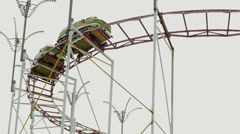 Roller Coaster Cars Stock Footage