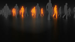 Unique people in the crowd Stock Footage