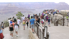 Grand Canyon Tourists Time Lapse Wide Stock Footage