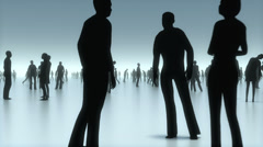 In the discussion, Walking and communicating people, business concept Stock Footage