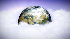 Earth in Clouds Stock Footage