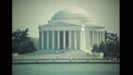 Jefferson Memorial and Tidal Basin Stock Footage