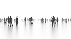 In the crowd, Walking and communicating people, business concept Stock Footage