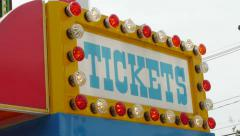 Ticket Booth Stock Footage