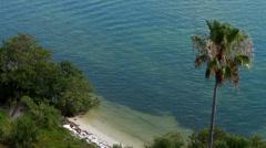 Beautiful tropical beach scene in Clearwater Beach, FL Stock Footage